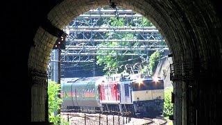 2016年8月6日、EF64 1031 EF81 95 E26系 カシオペアクルーズ 上越線湯檜...