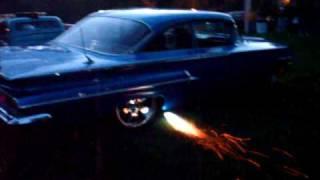 KATARINA blowing flames at the depot  town car show