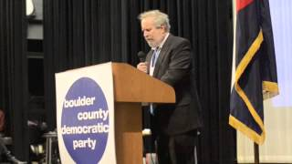 Alan Rosenfeld at the Boulder County Democratic Assembly