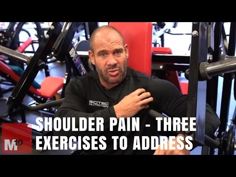 Shoulder pain - Three exercises you need to address