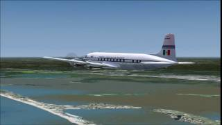 FS2004 Mexicana DC-6 Overfly Cancun
