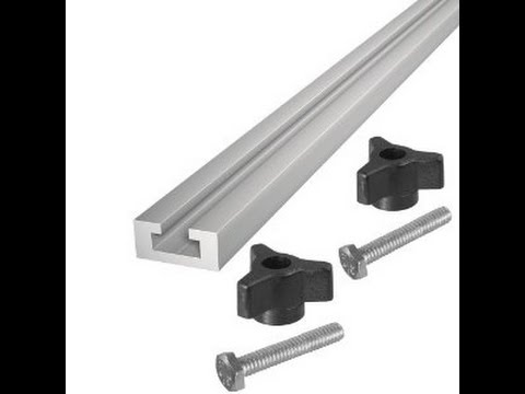 homemade aluminum t-slot track