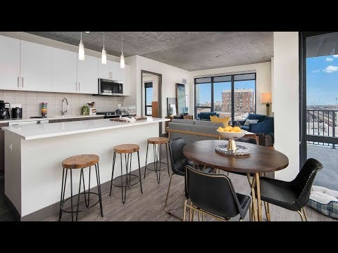 A 2-bedroom, 2-bath high-rise model in downtown Oak Park at The Emerson