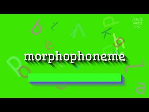 "How to say ""morphophoneme""! (High Quality Voices)"