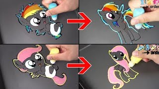 My Little Pony baby Pancake art - Rainbow Dash, Fluttershy