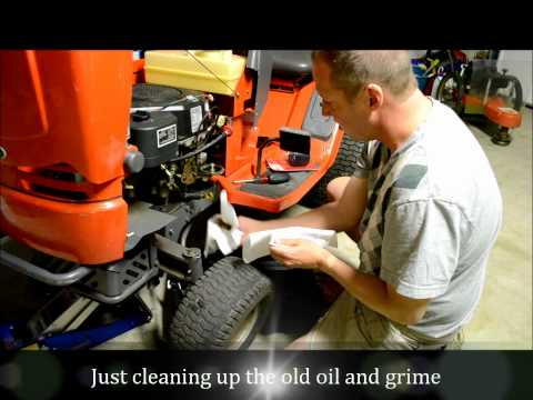 Oil Change:  Restoring a Scotts Riding Lawn Mower Tractor Part 2