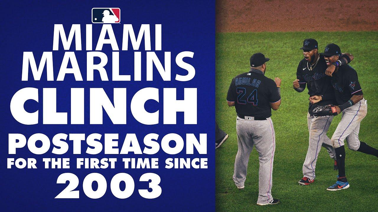 The Miami Marlins clinch first postseason birth since 2003! - YouTube