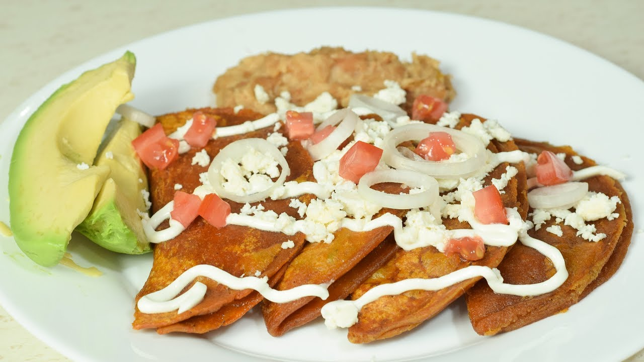 Enchiladas Potosinas | Cocinando con angel - YouTube