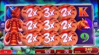 HUGE WIN - The power of the mammoth! (Mammoth Power slot machine)