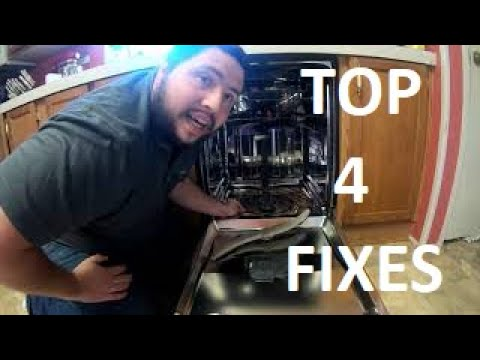 GE Dishwasher not HEATING or DRYING or CLEANING dishes? TOP 4 FIXES