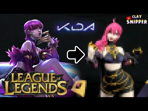 "League of Legends POPSTARS "" KDA Evelynn "" Clay art tutorial!"