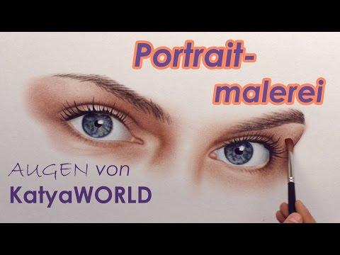 Augen malen/zeichnen  Model KatyaWORLD | Portraitmalerei von Stefan Pabst