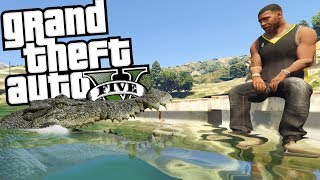 THE ULTIMATE ALLIGATOR ATTACK MOD (GTA 5 PC Mods Gameplay)