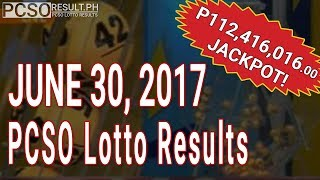 PCSO Lotto Results Today June 30, 2017 (6/58, 6/45, 4D, Swertres & EZ2)