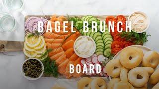 How to Arrange a Buffet-Style Bagel Board