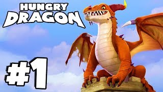 *NEW* Hungry Game With MASSIVE DRAGONS! | Hungry Dragon Gameplay Part 1 (IOS/Android)