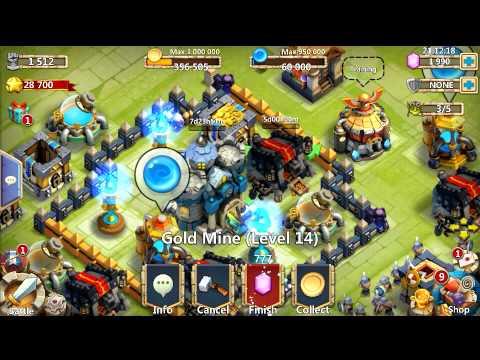 Castle Clash Upgrading Level 14 Gold Mine!