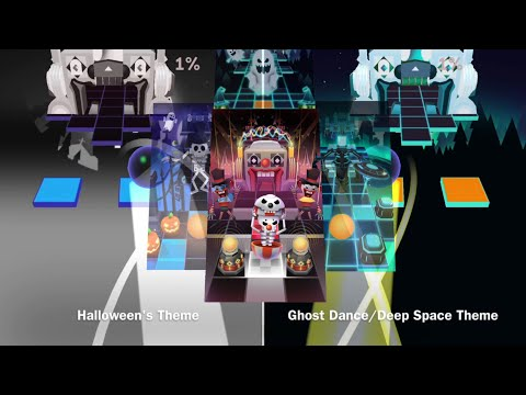 Rolling Sky Level 27 Circus • Halloween vs Ghost Dance/Deep Space's themes