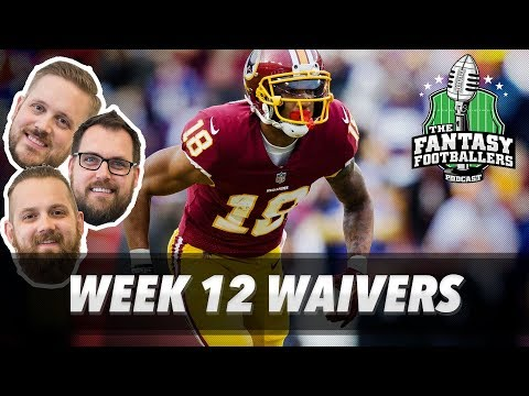 Fantasy Football 2017 - Week 12 Waivers & QB Streamers + Smooches! - Ep. #484
