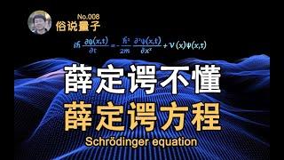 【俗說量子】薛定谔不懂薛定谔方程!?Schrödinger equation(第8期)| Linvo說宇宙