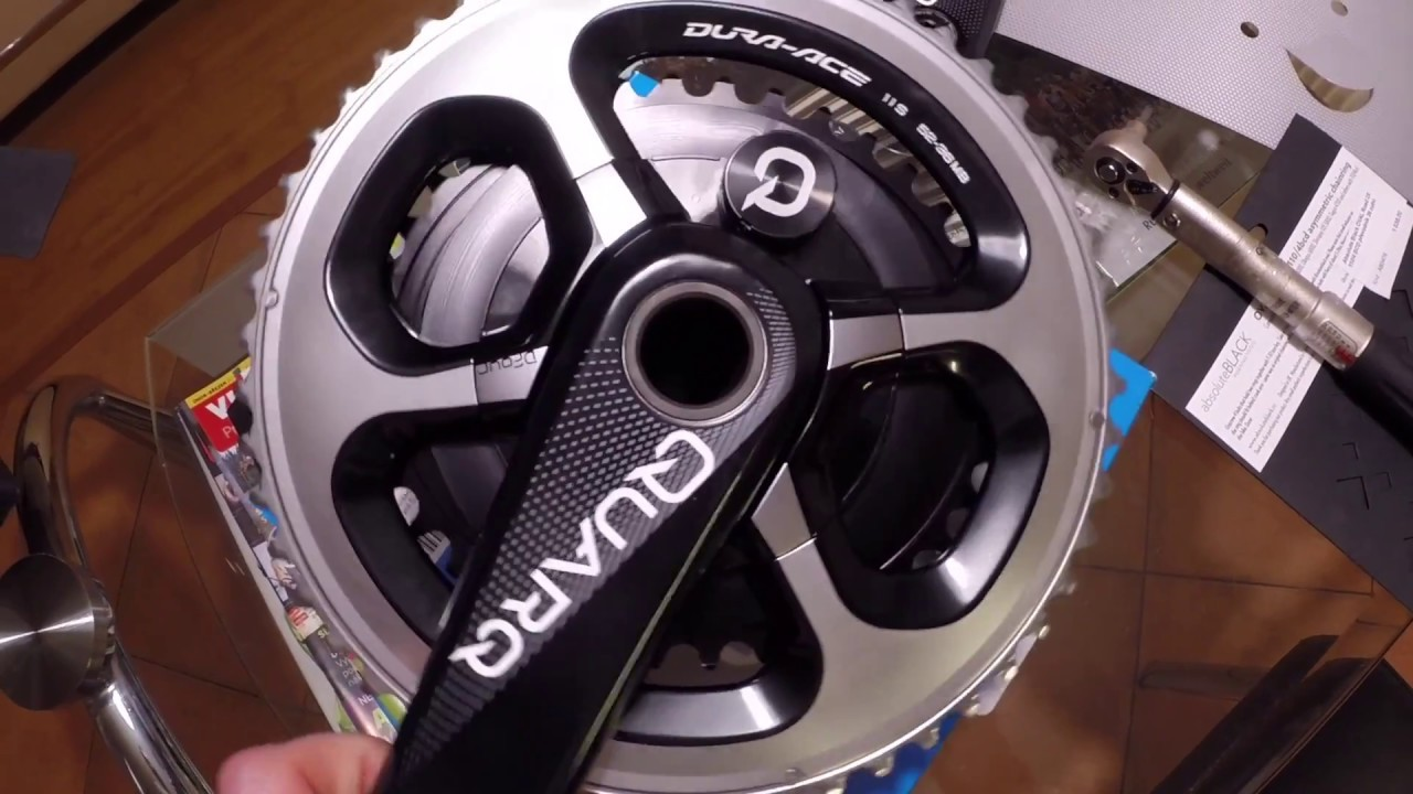 Quarq Power Meter : Quarq dfour power meter install duraace absoluteblack