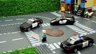 The Police cars in the mud & Car Wash Video for kids