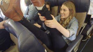 ◄|شاهد| طريقة ممارسة «اليوجا» في الطائرة: لا تشغل بالك بالمسافة الضيقة بين الكراسي - المصري لايت