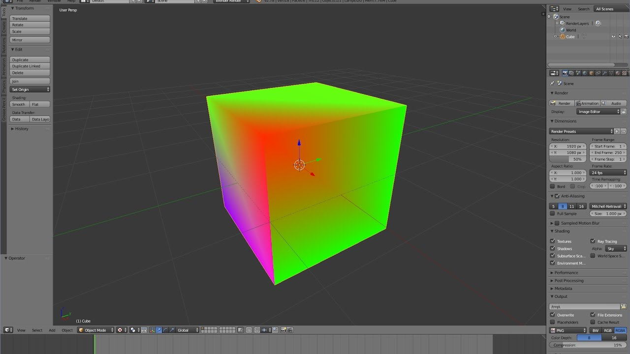 HOW TO: Vertex Colors - Blender to Unity3D 5 5