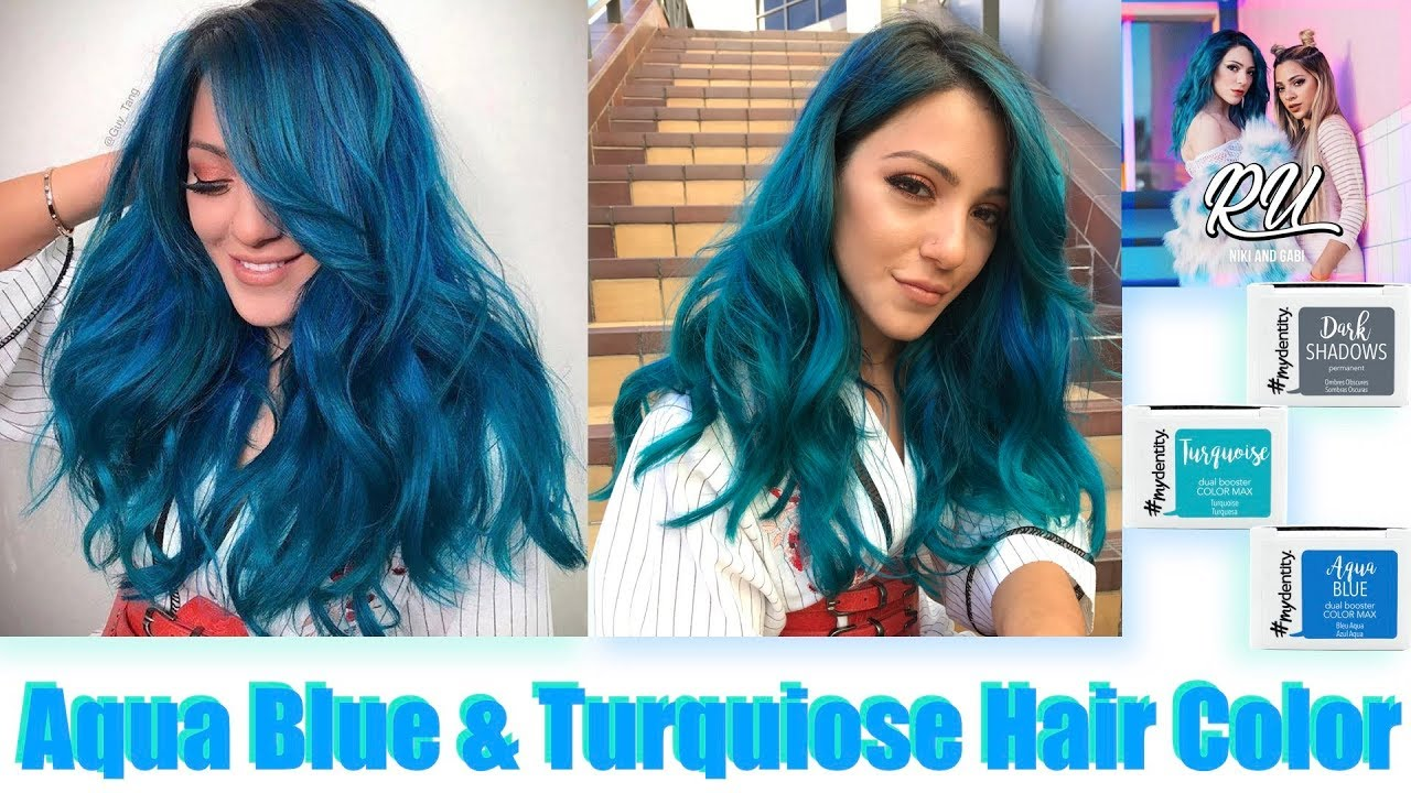 Aqua Blue Turquoise Hair Color Youtube