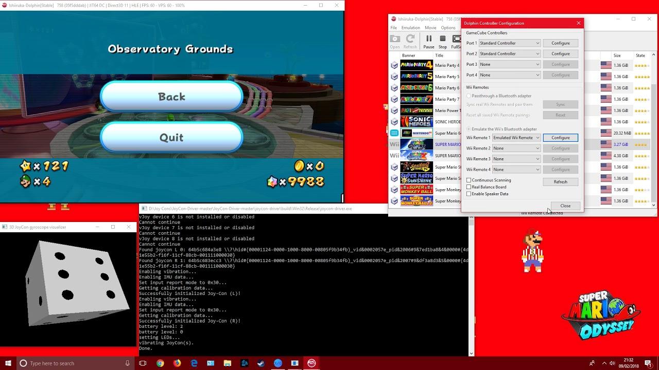 Mario Galaxy joy-con motion controls