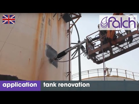 Cost-efficient tank cleaning with high-pressure jet systems. Container & tank renovation with robots