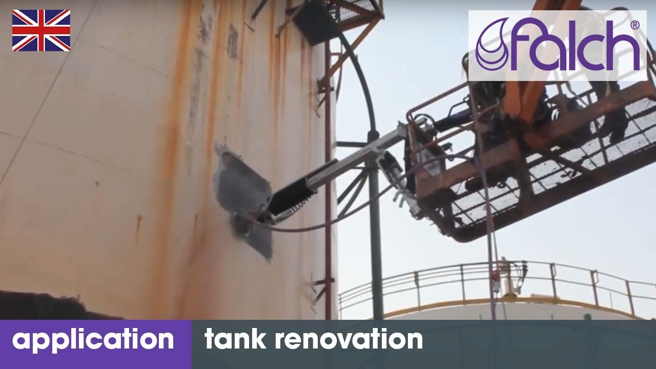 Cost-efficient tank cleaning with high-pressure jet systems  Container &  tank renovation with robots