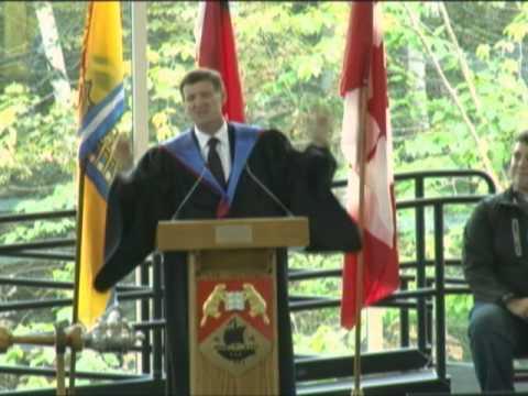 Opening Ceremony Speech by UNB Professor David Scott.