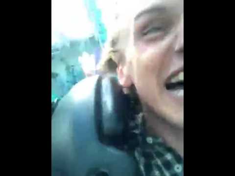 Jamie Campbell Bower, Lily Collins and Kevin Zegers spongebob ride