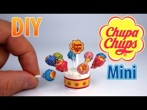 DIY Miniature Chupa Chups Lollipops | DollHouse | No Polymer Clay!