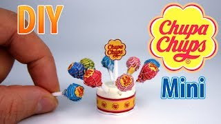 DIY Miniature Chupa Chups Lollipops | DollHouse | No Polymer Clay!