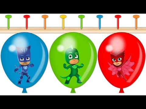 Learn Colors With PJ Masks Wrong Heads Balloons