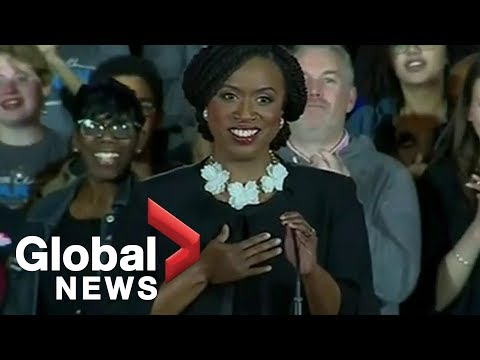 Midterm Elections: Ayanna Pressley gives impassioned victory speech after winning House seat