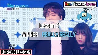 [KOREAN CLASS] Winner◈Really Really (Lesson 9)