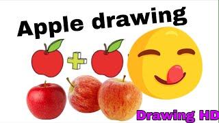 #DRAWING Ripe Apple Drawing | របៀបគូររូបផ្លែប៉ោមទុំ