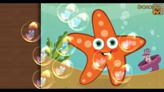 Мультики пазлы Про Морских Животных  Дельфин Краб Рыбы  Мультфильмы для детей