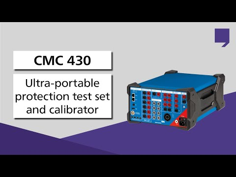 CMC 430 - Ultra-portable protection test set and calibrator