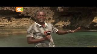 Kidimbwi mfano wa ramani ya Afrika chavutia wengi eneo la Tiwi