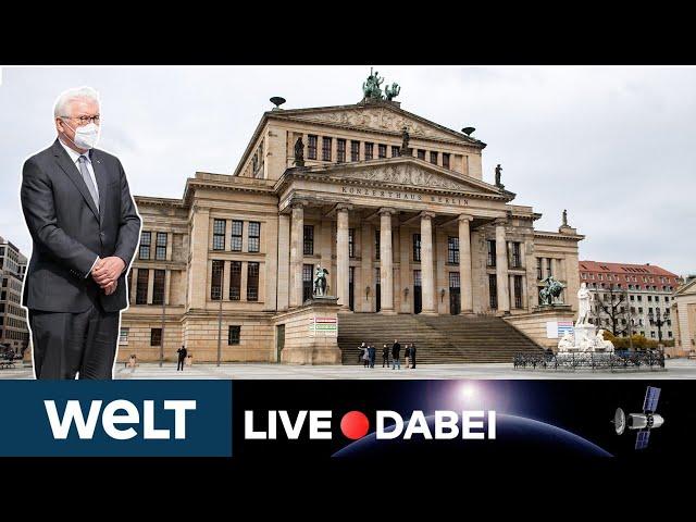 GEDENKFEIER für die Toten der Corona-Pandemie mit Bundespräsident Steinmeier | WELT LIVE DABEI