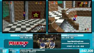 Super Mario 64 0/1 Star by 360Chrism, GamerDomey in 8:09 - Summer Games Done Quick 2015 - Part 155