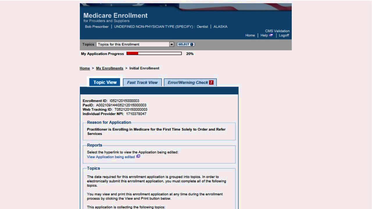 Medicare Provider Enrollment Through Pecos