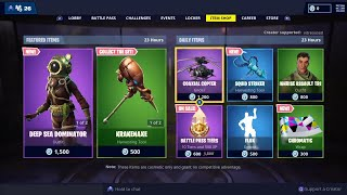*NEW* NAUTILUS Glider, DEEP SEA DESTROYER & DOMINATOR Skins - February 22nd Fortnite Item Shop