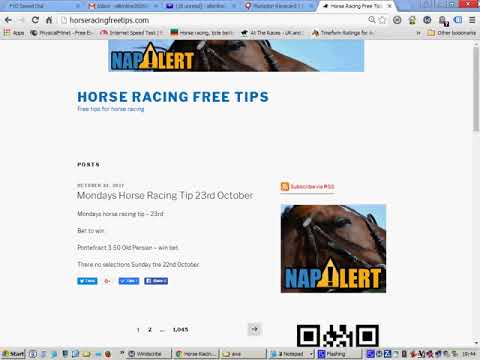 horse racing free tips monday 23rd october 2017
