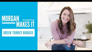 HEALTHY TAILGATE ALTERNATIVE   Greek Turkey Burger   Morgan Makes It