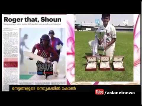 Malayali shoan roger selected in UAE cricket team | Gulf News